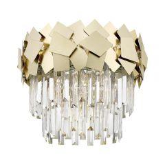 Quasar Crystal ceiling lamp 5 flames gold Zuma Line C0506-05A-B5E3