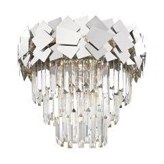 Quasar Crystal ceiling lamp 6 flames chrome Zuma Line C0506-06A-B5AC