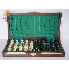 Szachy drewniane układane małe