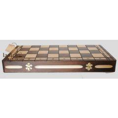 Szachy drewniane turniejowe duże