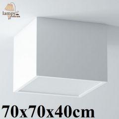 Lampa plafon 4 płomienny BELONA kwadrat 70x70x40cm różne kolory Cleoni 1303D4E4