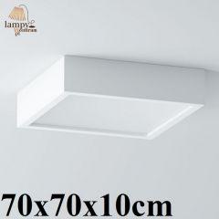 Lampa plafon 4 płomienny BELONA kwadrat 70x70x10cm różne kolory Cleoni 1303D1E4