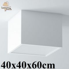 Lampa plafon 3 płomienny BELONA kwadrat 40x40x60cm różne kolory Cleoni 1303A6E3