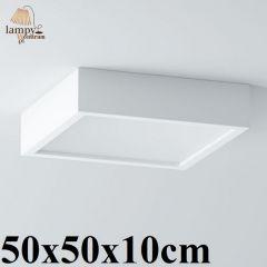 Lampa plafon 3 płomienny BELONA kwadrat 50x50x10cm różne kolory Cleoni 1303B1E3