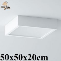Lampa plafon 3 płomienny BELONA kwadrat 50x50x20cm różne kolory Cleoni 1303B2E3