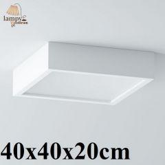 Lampa plafon 3 płomienny BELONA kwadrat 40x40x20cm różne kolory Cleoni 1303A2E3