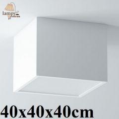Lampa plafon 3 płomienny BELONA kwadrat 40x40x40cm różne kolory Cleoni 1303A4E3