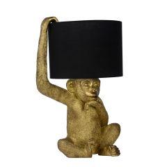 EXTRAVAGANZA CHIMP Lampa stołowa z abażurem czarny/złoty 10502/81/30 Lucide