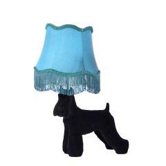 EXTRAVAGANZA FILOU Lampa stołowa z abażurem czarny/niebieski 10504/81/30 Lucide