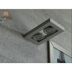 Lampa kinkiet 2 płomienny LED VITERBO różne kolory Cleoni T079A2K