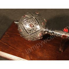 Hetman's mace from the turn of the seventeenth and eighteenth, set with Swarovski crystals + stand - replica