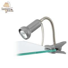 Lampa biurkowa na klips FABIO EGLO - srebrny 81265