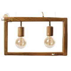 Lampa żyrandol 2 płomienny SIMPLY WOOD HPlampy SI2W