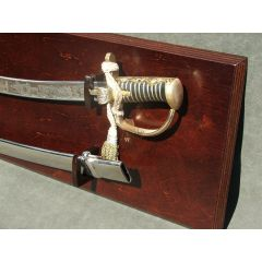 Polish hussar saber with scabbard, hanging table included