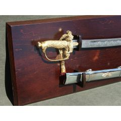 Polish saber of general W. Sikorski from 1920 with a steel sheath and decorative table