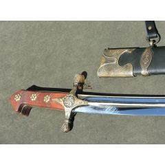 Noble karabela with a leather scabbard, hardened blade