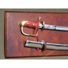 Polish saber wz34 with sheath blade chrome + tablo - replica