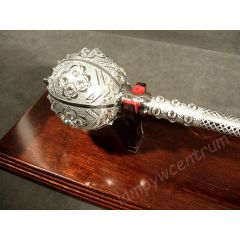 Hetman's mace from the turn of the 17th and 18th century set with Swarovski crystals + stand - replica