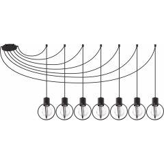 Lampa żyrandol 7 płomienny AURA KOŁO czarny Sigma 31087