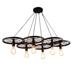RANCH 6 Azzardo AZ1650 chandelier lamp