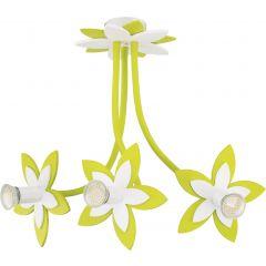Lampa żyrandol 3 płomienny FLOWERS GREEN III Nowodvorski 6898