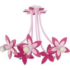 Lampa żyrandol 5 płomienny FLOWERS PINK V Nowodvorski 6896