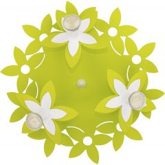 Lampa plafon 3 płomienny FLOWERS GREEN III Nowodvorski 6900