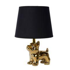 Lampa stołowa EXTRAVAGANZA SIR WINSTON z abażurem złoty/czarny 13533/81/10 Lucide