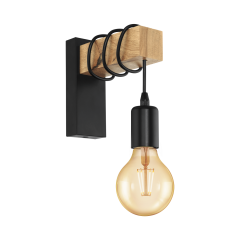 Wall lamp TOWNSHEND black VINTAGE EGLO 32917