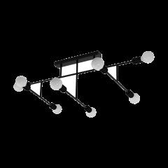 Ceiling lamp 8 flame BELSIANA black EGLO 98035