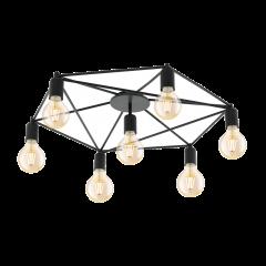 Ceiling lamp 7 flame STAITI black EGLO 97904