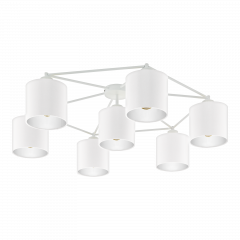 Ceiling lamp 7 flame STAITI white lampshade EGLO 97903