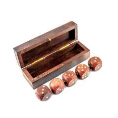 Gra w kości w pudełku drewnianym GMS-0132 Gift Shop