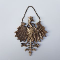 Eagle of King Sigismund the Old with the letter S, Brass