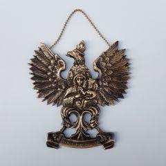 Big eagle emblem Our Lady of Częstochowa. Brass