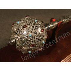 Hetman's mace from the turn of the 17th and 18th centuries + stand - replica