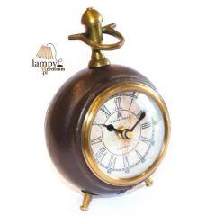 Zegar stojący CLK-0208B, oprawa skórzana