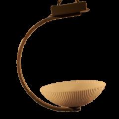 Lampa wisząca 1 płomienna Księżyc klosz owalny karbowany Lis Lighting