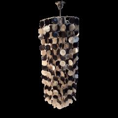 Lampa wisząca 1 pł. masa perłowa biała czarna E27 Maxima