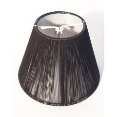 Abażur stożek czarny sznurek E14 na żarówkę