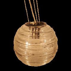 Lampa wisząca 1 płomienna Genie nikiel satyna przezroczysta E27 Falko