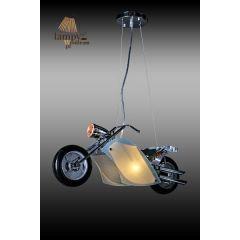 Lampa żyrandol 3 płomienny MOTOR HARLEY Sinus 2023