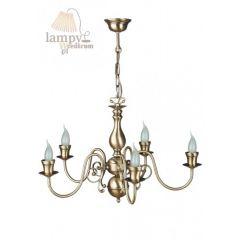 Lampa żyrandol 5 płom. Świeca 0007/JP5 SOLAR