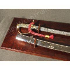 Polish saber wz1976 with scabbard + table, chrome blade - replica