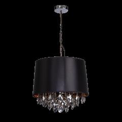 VIGO Lampa wisząca z abażurem Ø40 cm 2 płom. czarna Light Prestige LP-0412/1P BK