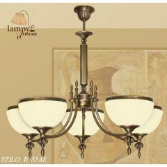Lampa żyrandol 5 płomienny odwrotny Stilo R S5A ICARO