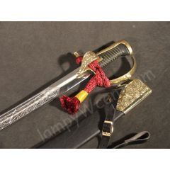 Polish saber Husarska with scabbard, chrome version - replica