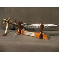 WOODEN STAND WITH DEDICATION - melee weapons, sabers, katanas
