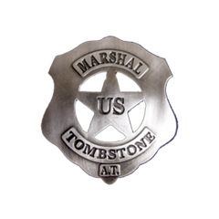 US Marshal Tombstone Denix 105 Silver Badge