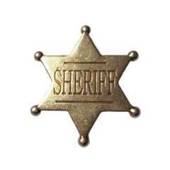Golden Six-pointed Sheriff Star Denix 106